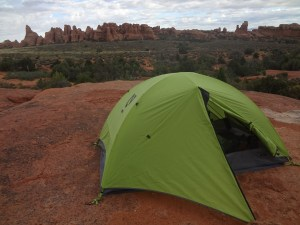 backcountry camping, tent, Arches National Park, Utah, arboursabroad