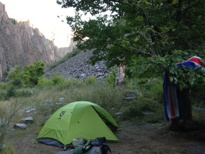 camping, tent, Black Canyon of the Gunnison, Colorado, arboursabroad