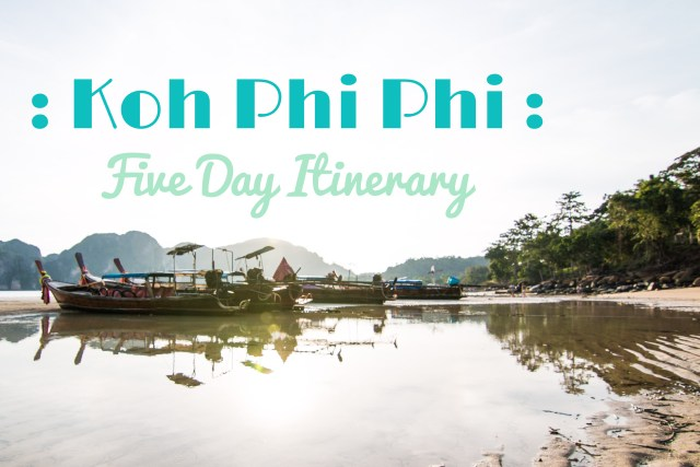 Itinerary, Koh Phi Phi, Boats, arboursabroad