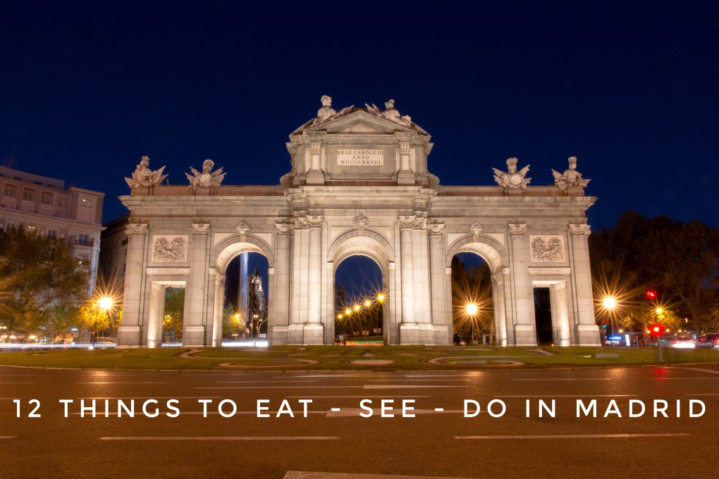 Things to do in Madrid, Puerta de Alacala, night photography, madrid, arboursabroad