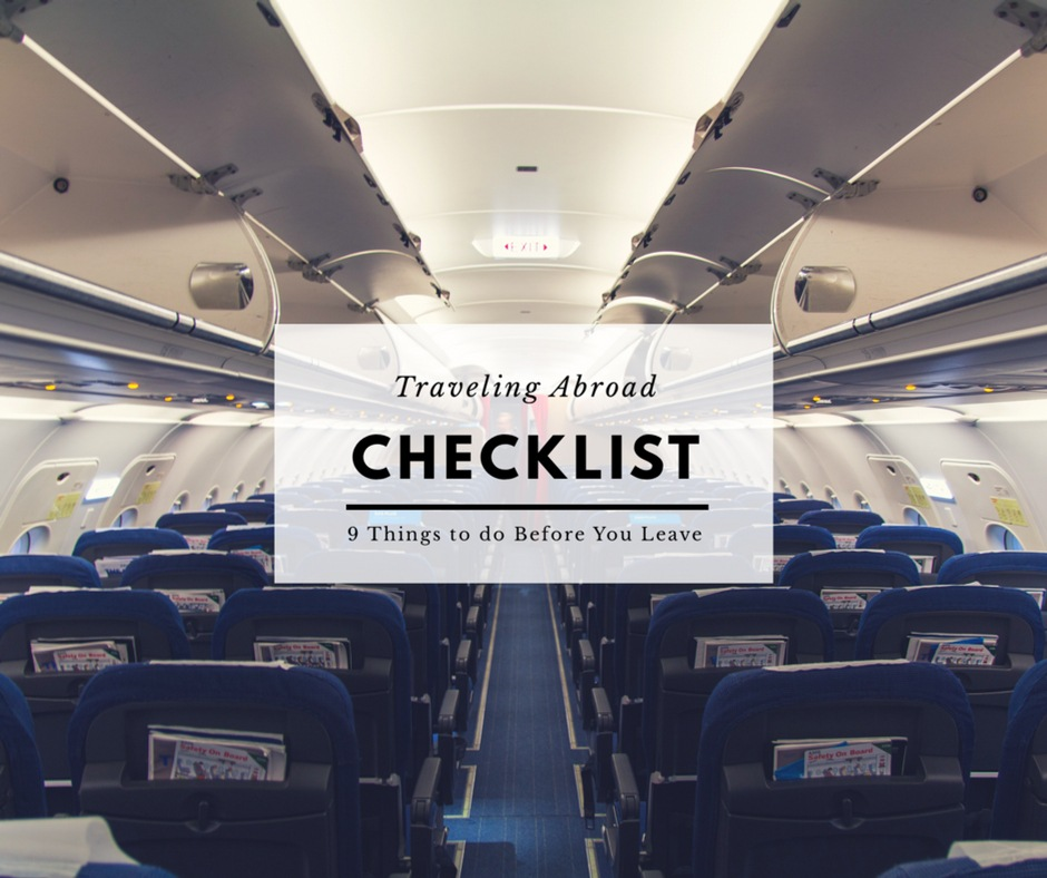 heading abroad, arboursabroad, travel advice, checklist, traveling abroad