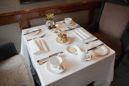 breakfast settings, table settings, arboursabroad, hotel settings, Marcliffe Hotel and Spa, Aberdeen