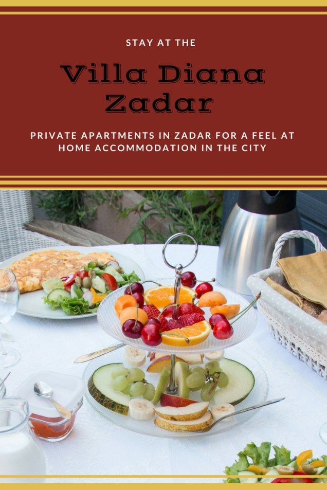 apartment, breakfast, Villa Diana, Zadar, where to stay in Zadar, arboursabroad