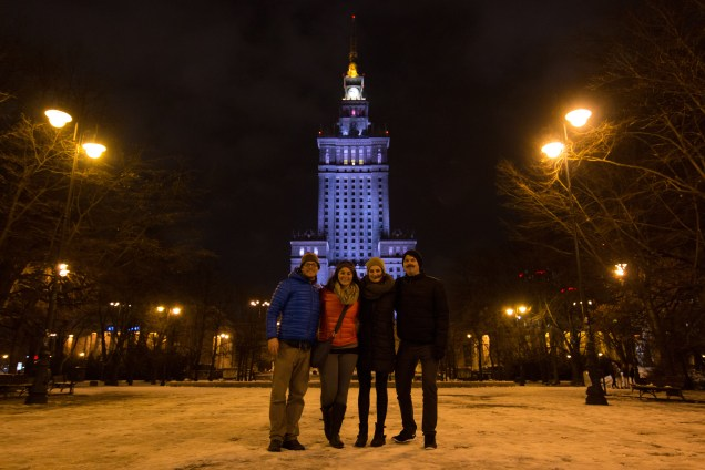 friend vacation, palace of culture and science, warsaw in december, arboursabroad