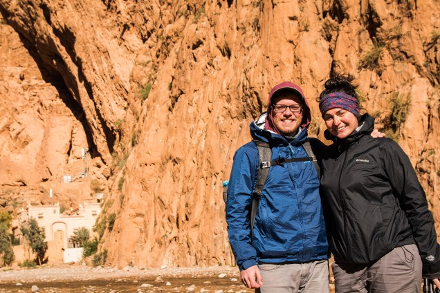 Todra Gorge, Morocco, arboursabroad, couple in the Todra Gorge