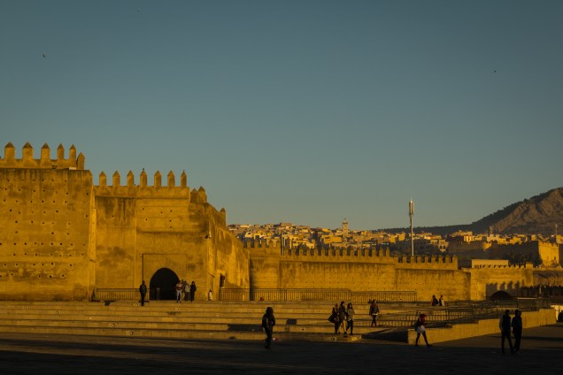Fez medina wall in morning light, visiting fez, arboursabroad, Morocco