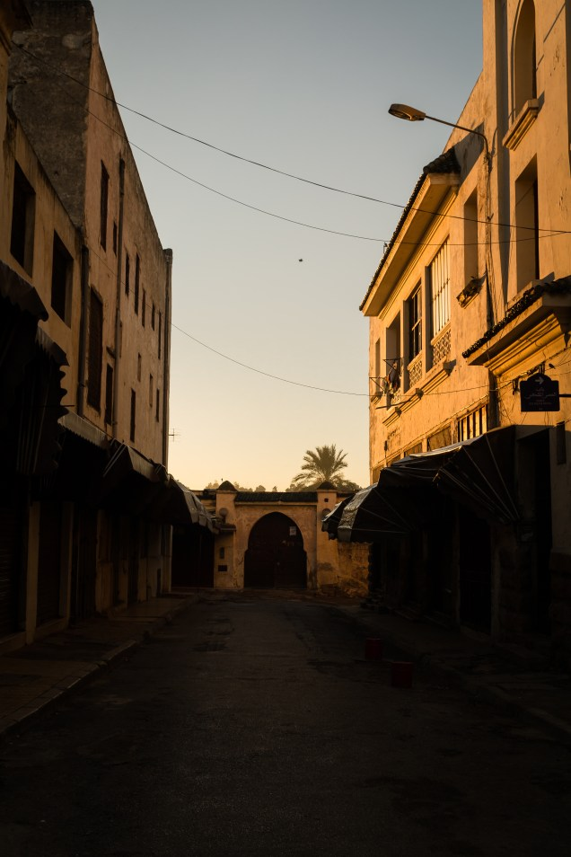 Fez street in early morning, empty street, Fez, Morocco, arboursabroad