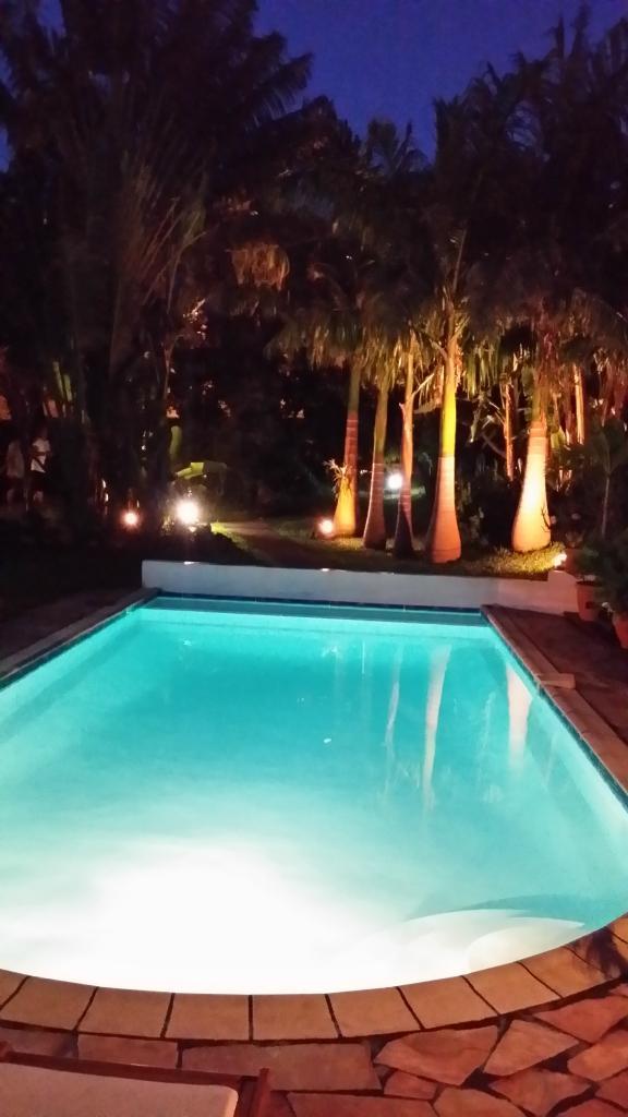 Un Apercu Du Vaste Jardin De La Maison En Location De Nuit