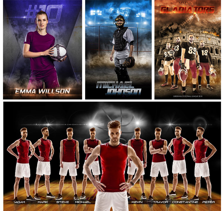 Sports Photoshop Templates