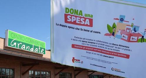 """""""Dona la spesa"""" – Iper di Grandate sostiene l'evento a favore di ARCA 88"""