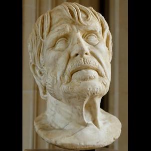 Un busto di Seneca esposto al Louvre