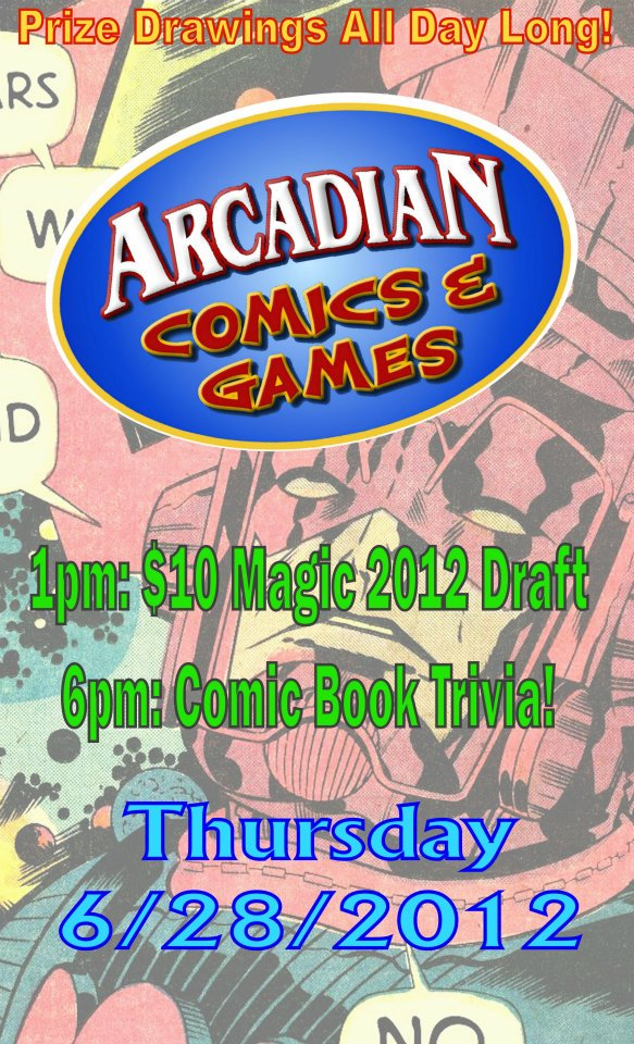 Thursday - $10 Magic Games and Comic Book Trivia
