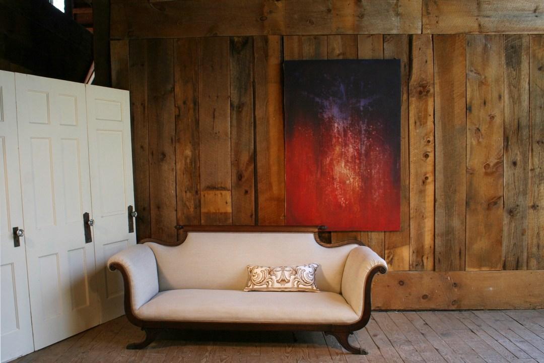 """An elegant pillow, Anastasia Veronese in Neutral """"sepia linen"""" color way"""
