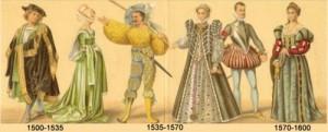 timeline of fashion 1500