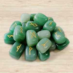 Aventurine Rune Stone Set