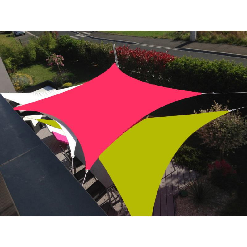 voile easysail carree 3x3 framboise