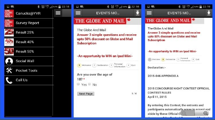 Globe and Mail – Digital App Development & Customization