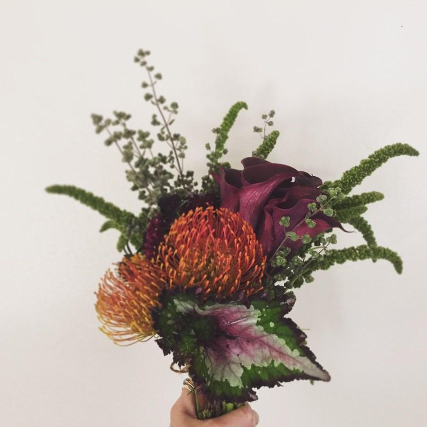 small bouquet, arcflora, birthday bouquet, mans bouquet, protea, los angeles floral designer