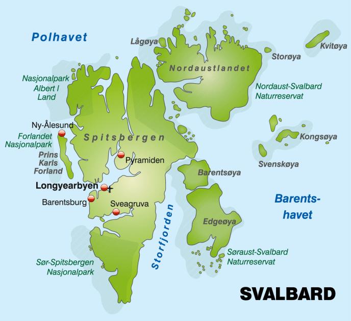 Svalbard map