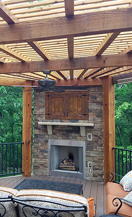 outdoor fireplace for your porch or deck