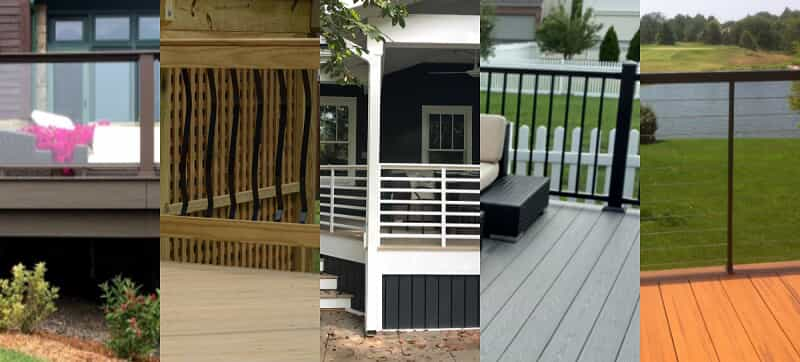 railings for your deck or porch