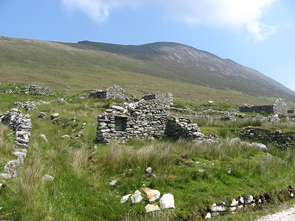 Fig 3-Part of the Deserted Village on Slievemore