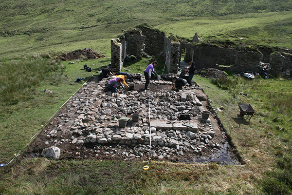 Fig 14-Boycott's House in keem during the excavation