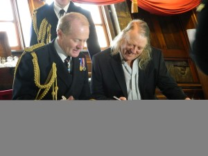 Vice Admiral Sir Charles Montgomery and Phil Harding. Image: Carly Hilts