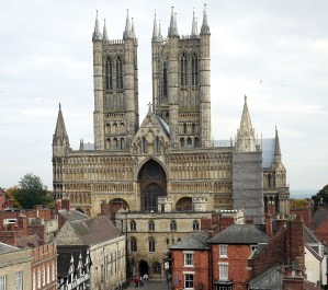 Lincoln cathedral from castle