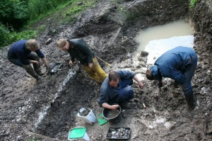 Glorious mud — and thousands of flints. Credit: Andy Rhind-Tutt