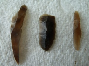 Some of the thousands of flint tools recovered from the site