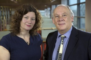Dr Turi King, and Prof. Kevin Schürer. Image: University of Leicester
