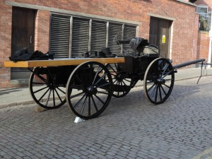 The gun carriage that bore the king's coffin, ready for action. Photo by R Hilts