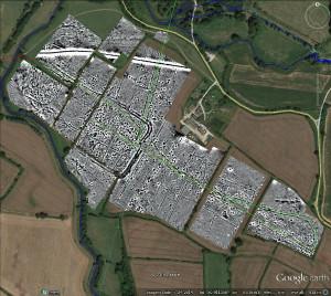 Geophysics image of the Bridge Farm settlement. (Photo: David Staveley)
