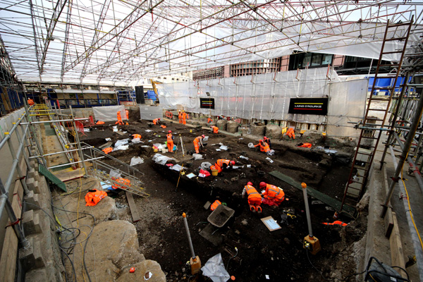 The Crossrail archaeology project has uncovered a wealth of finds across London, spanning all aspects of the city's past. At Liverpool Street, the MOLA team uncovered both part of Bedlam's cemetery and Roman remains.