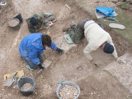 Excavation underway in Kent [Photo Credit: Kent Archaeological Field School]