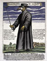 Doctors during the Black Death plague wore masks filled with aromatic herbs
