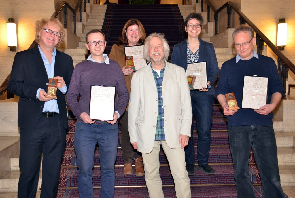 The 2018 Current Archaeology Award winners. [Photo credit: Current Archaeology]
