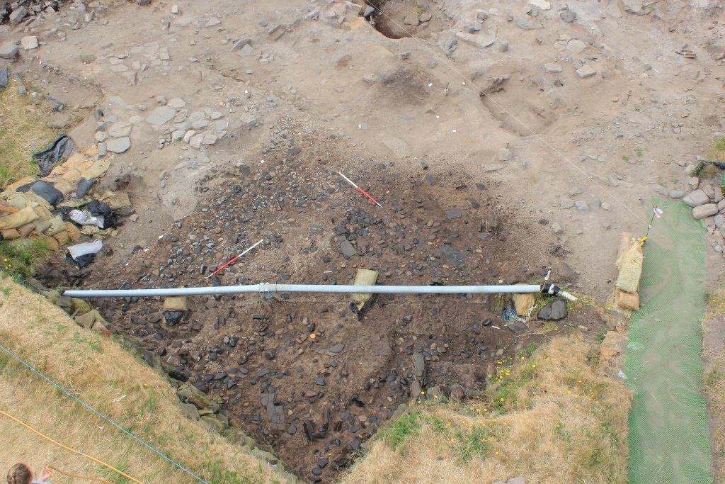 Excavations continue at Bamburgh Castle