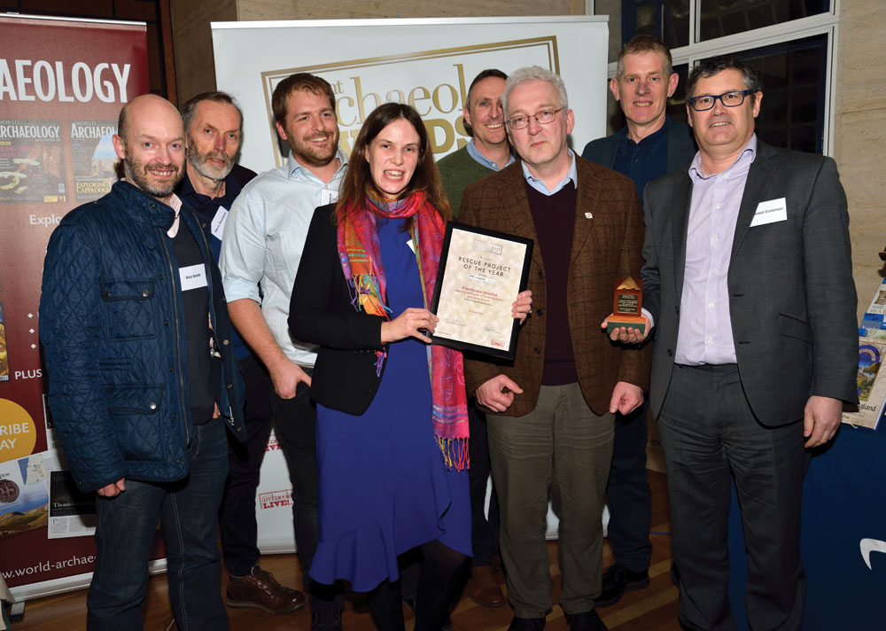 The winners of the Rescue Project of the Year 2019 collect their award at the Current Archaeology Awards