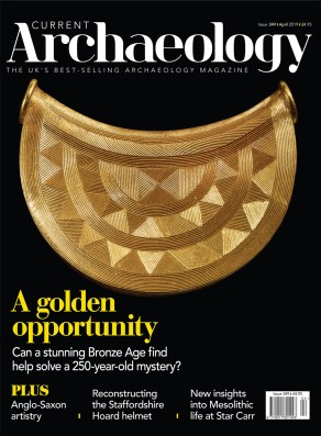 Front cover of Current Archaeology issue 349.
