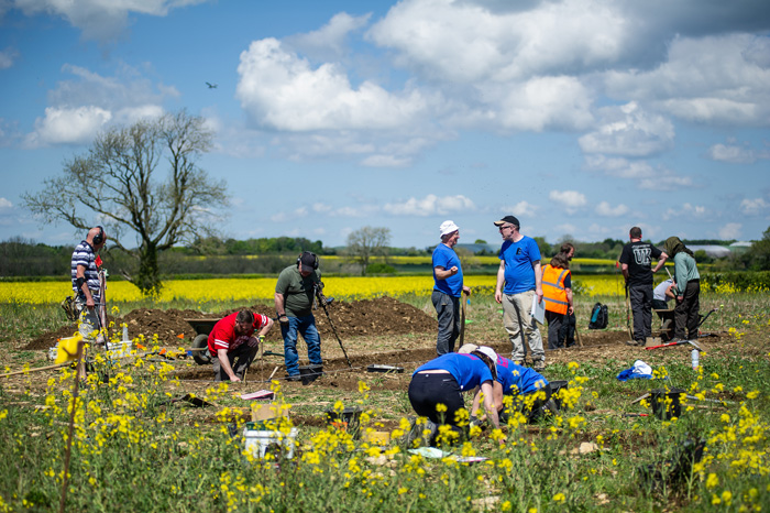 A team of veterans and volunteers from Operation Nightingale and Breaking Ground Heritage, along with professional archaeologists from Cotswold Archaeology, have uncovered two well-furnished Anglo-Saxon burials