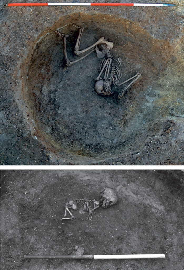 Two Iron Age burials found to the west of the boundary ditch