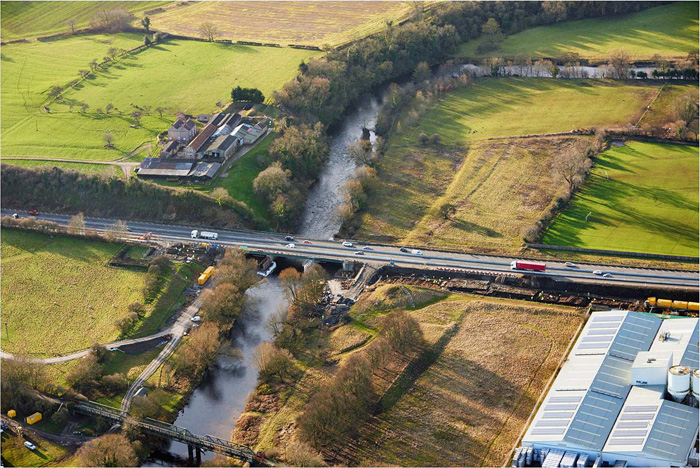 The A1 crossing the River Swale