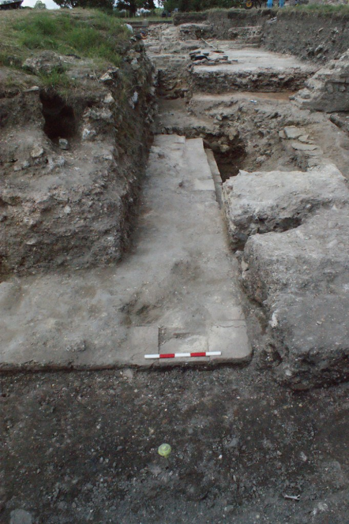 The remains of the earliest masonry building found at Silchester