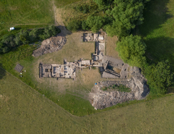 Image overlooking the excavation of the baths at Silchester