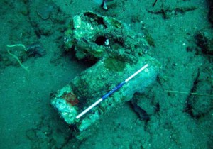 Figure 6. Stone bench/quern lying on the wreck site