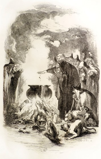 Pendle 19th Century Witch Gathering Illustration