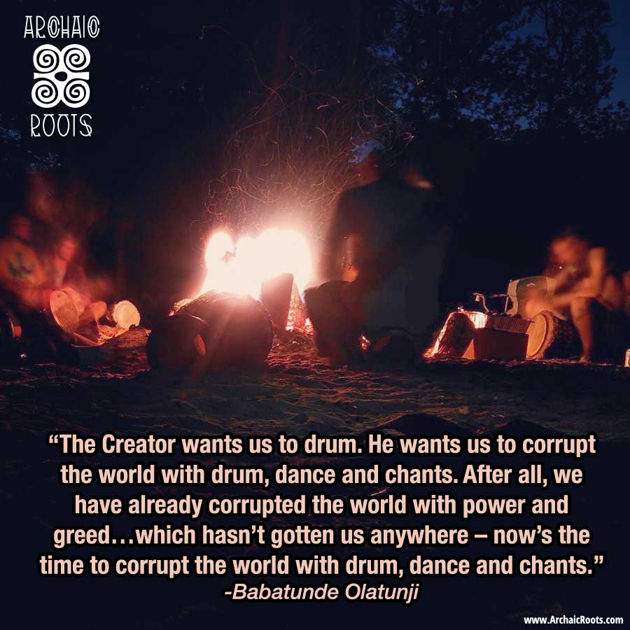 The creator wants us to drum…