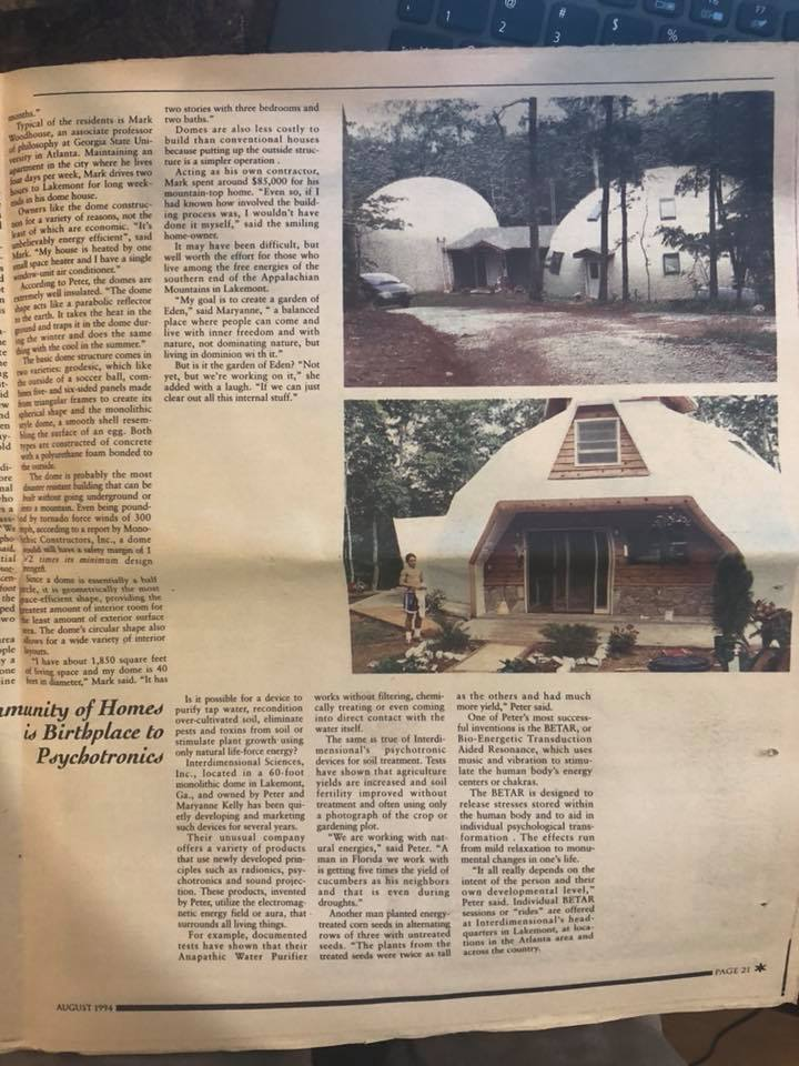 History of our Dome Community- The Other Georgia